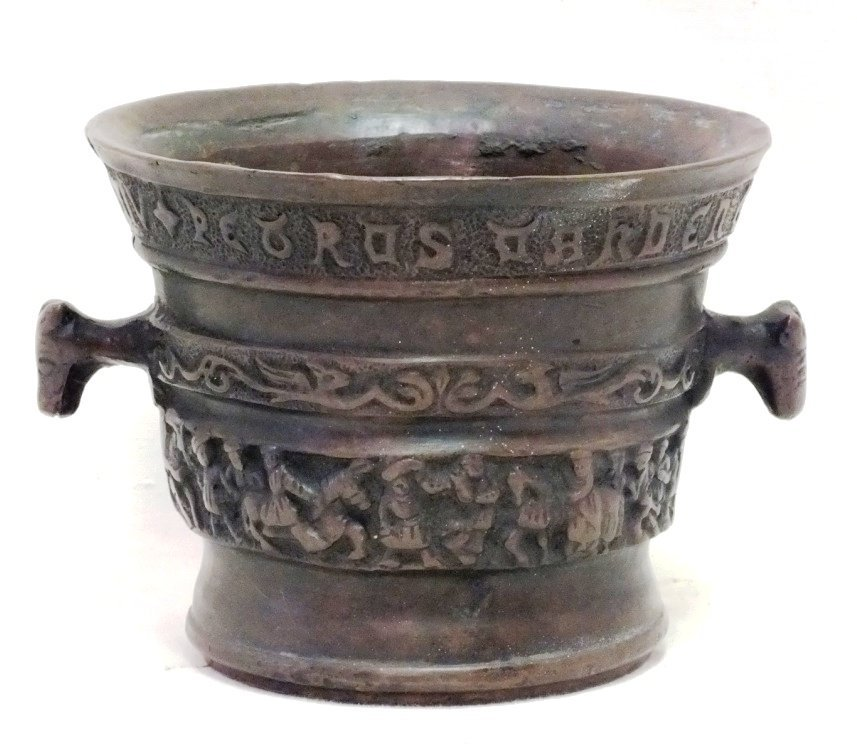 16-17th Century bronze mortar