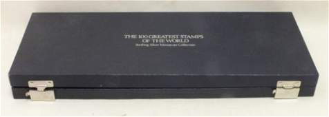 Franklin Mint Sterling collection of 100 greatest