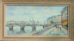 "Hendrik Kranenburg ""canal View In Amsterdam"""