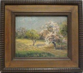 "Clarence Scott White (1872 - 1965) ""spring Landscape"