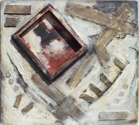 """Yevgeny Rukhin (russian, 1943 - 1976) """"composition"""""""