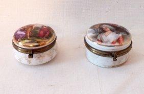 Pair Of Austrian Trinket Boxes