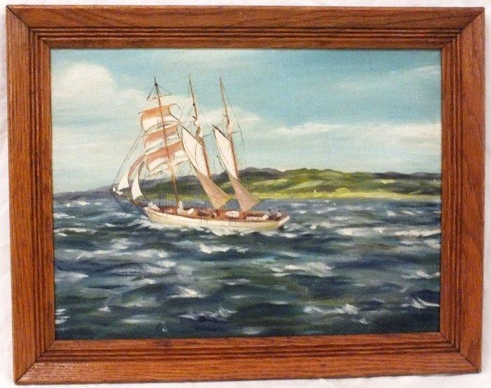 "Albert Ernest Backus (1906 - 1990) ""Coastal Scene with"
