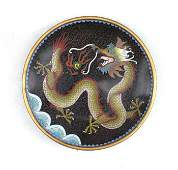 Chinese cloisonne plate with dragon
