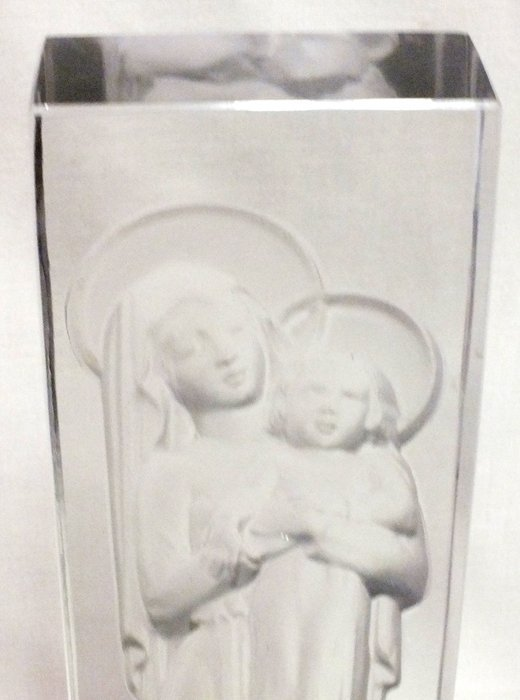 """Rene Lalique glass statue """"Madonna and Child"""" - 2"""