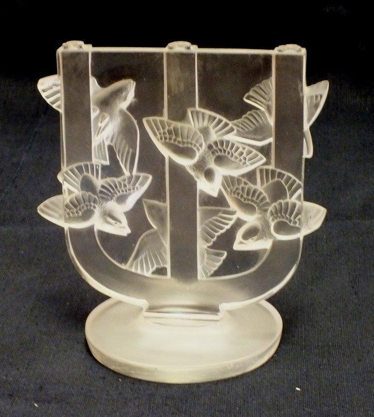 Rene Lalique Trois Branches Roitelets Candleholder