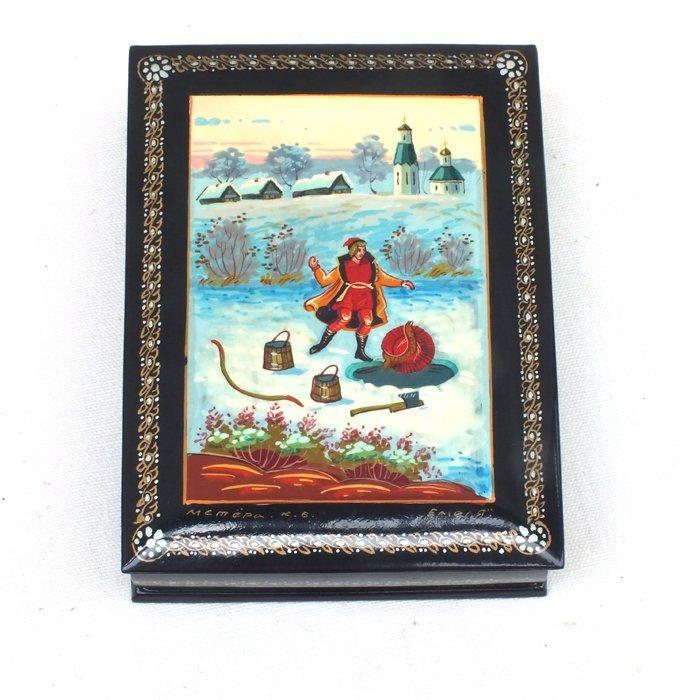 """Russian Mstera lacquer box """"Emelia"""""""