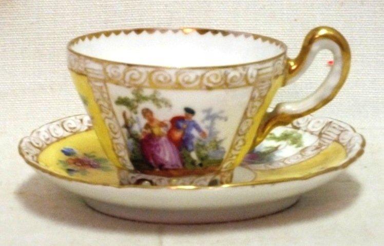 Dresden Helene Wolfsohn cup and saucer