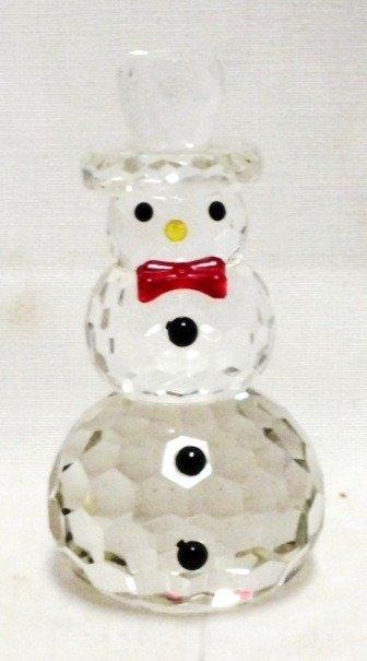 Swarowski crystal glass Snowman figure