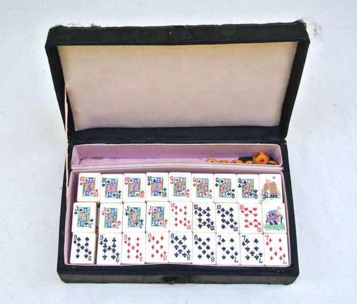 Chinese travel  tile playing cards  set