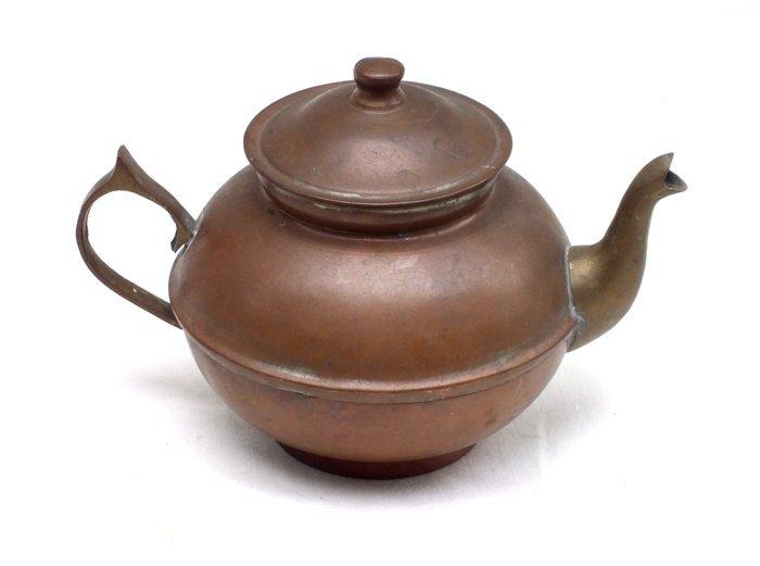 1800's copper ZIYA BERK tea pot