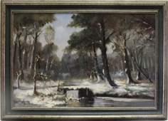 """Alexandre Altmann (Russian, 1875-1950) """"Winter Snow"""