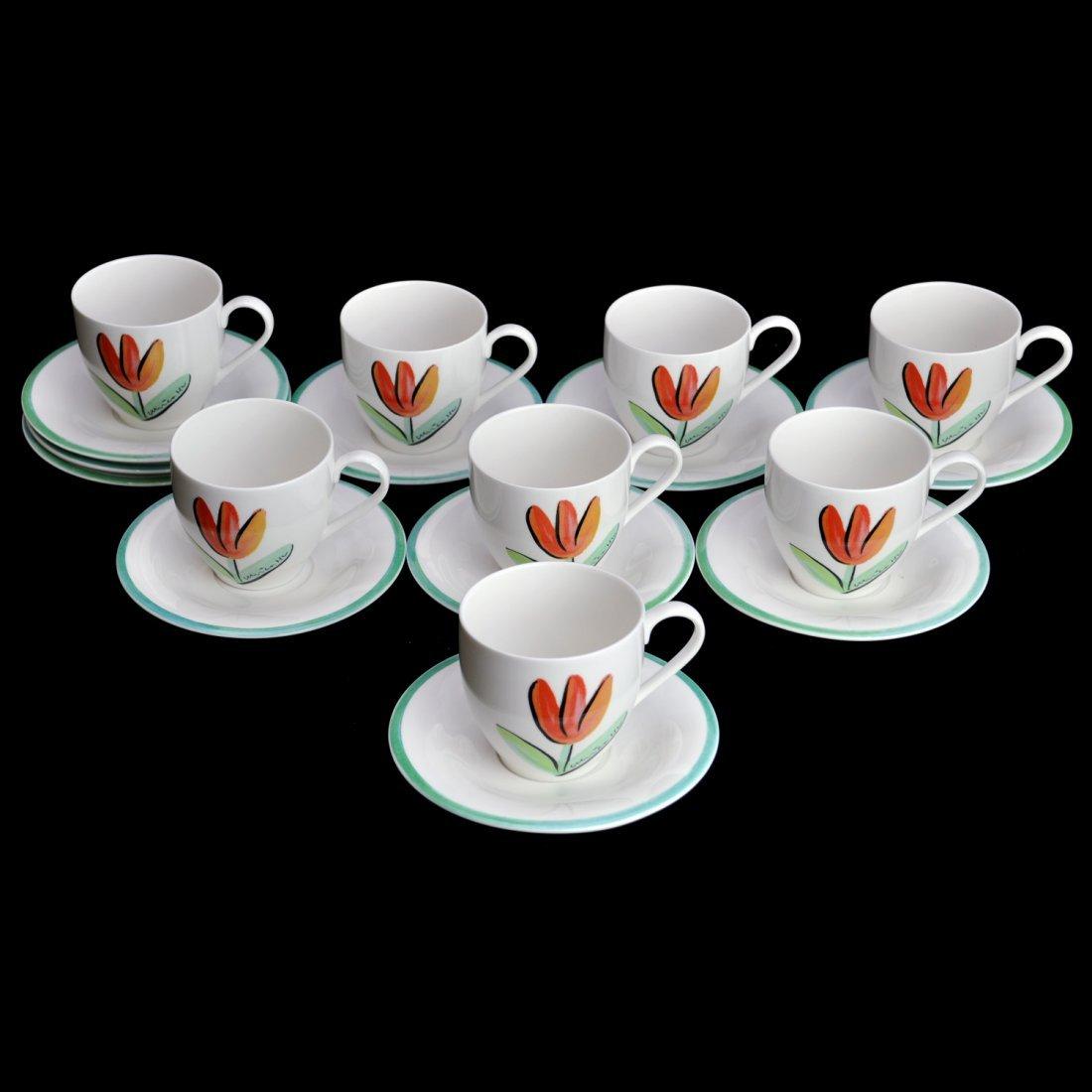 "4: PARTI KAFFEKOPPAR, 8 (+2) delar, ""Tulipa"", ULRICA HY"