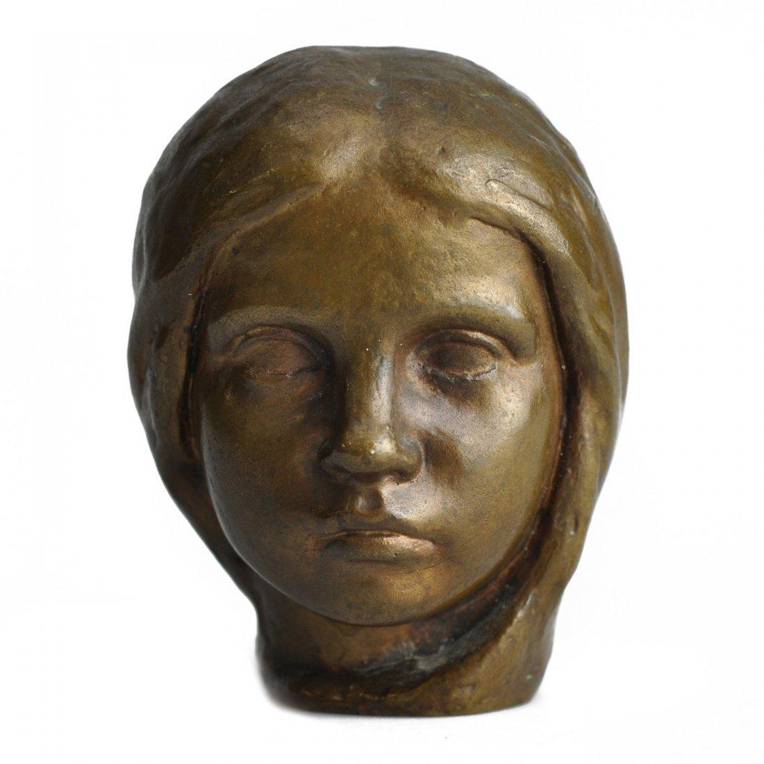 """6: SKULPTUR, brons, """"Marie Claire Enfant"""" (1910), JOHAN"""
