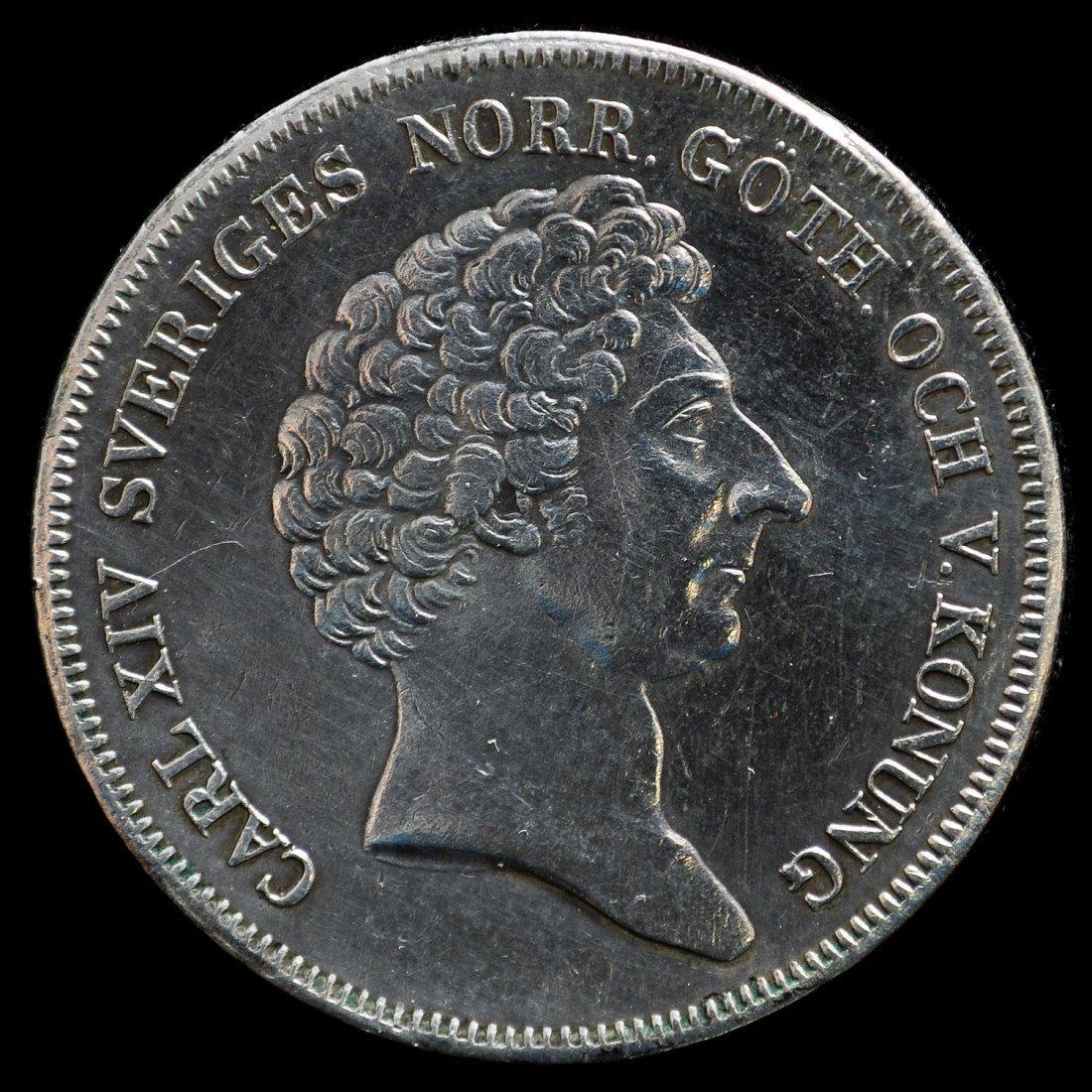 14: MYNT, 1 st, silver, Riksdaler 1841