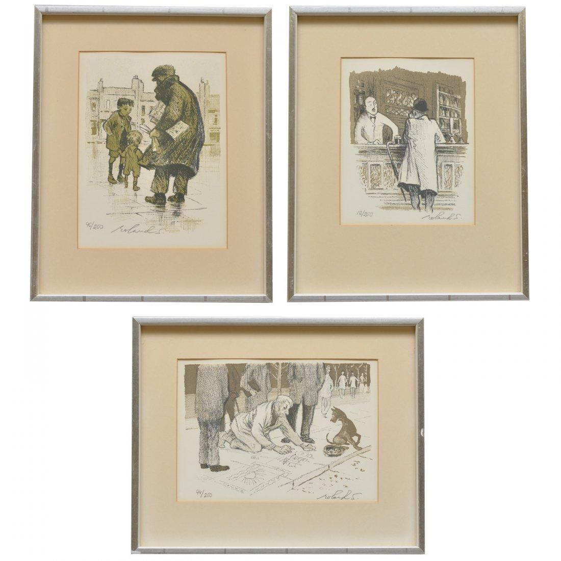 54: ROLAND SVENSSON, litografier, 3 st
