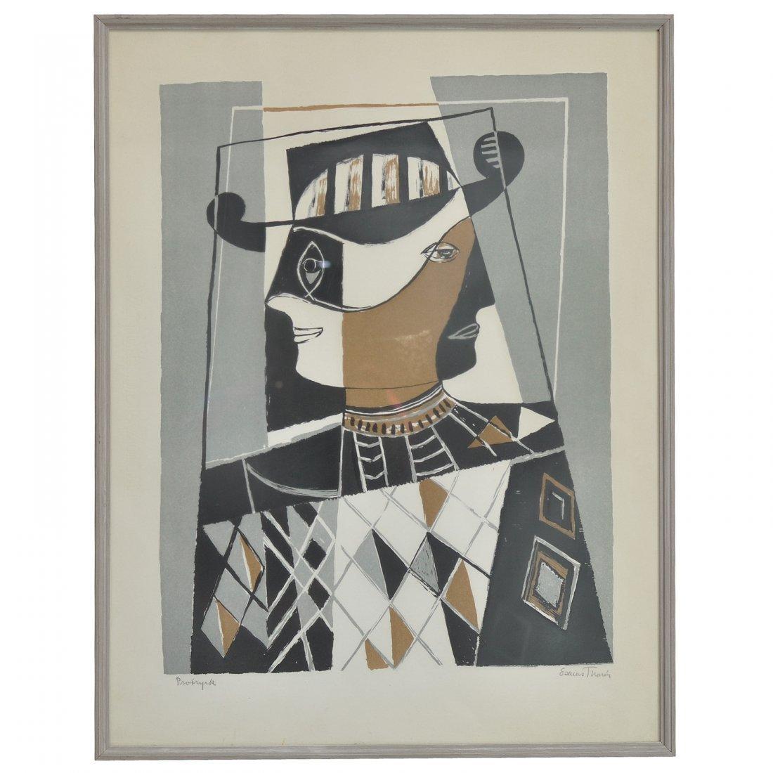 63: ESAIAS THORÈN (1901-1981), litografi