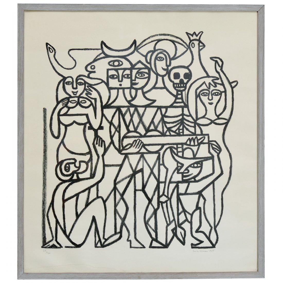 65: ERIK OLSON (1901-1986), litografi