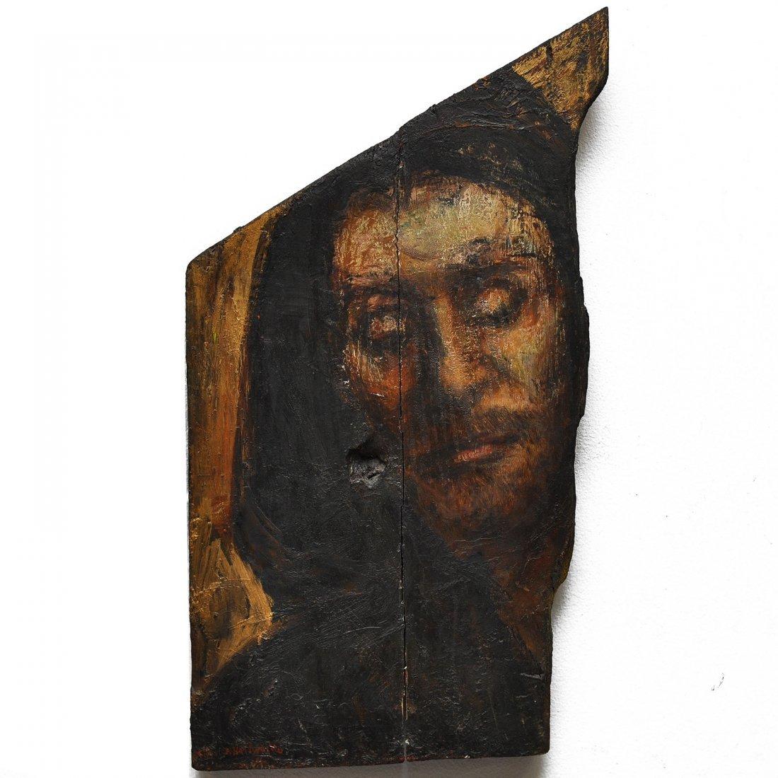 5: JAN NALIWAJKO (1938-), olja på träpannå