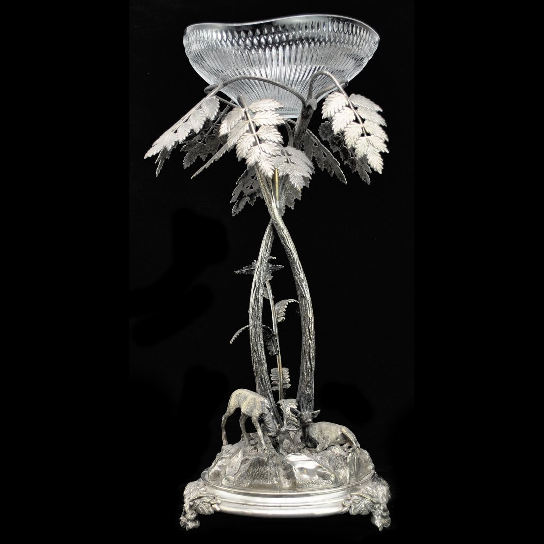 12: BORDSUPPSATS, nysilver, 1800-talets slut, A.G Dufva