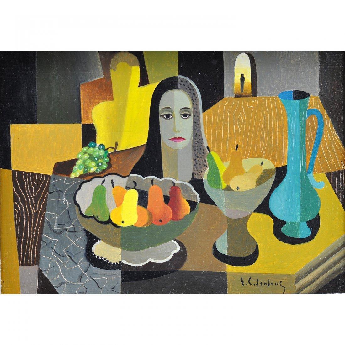 6: ERIC CEDERBERG (1897-1984), olja på pannå, daterad 1