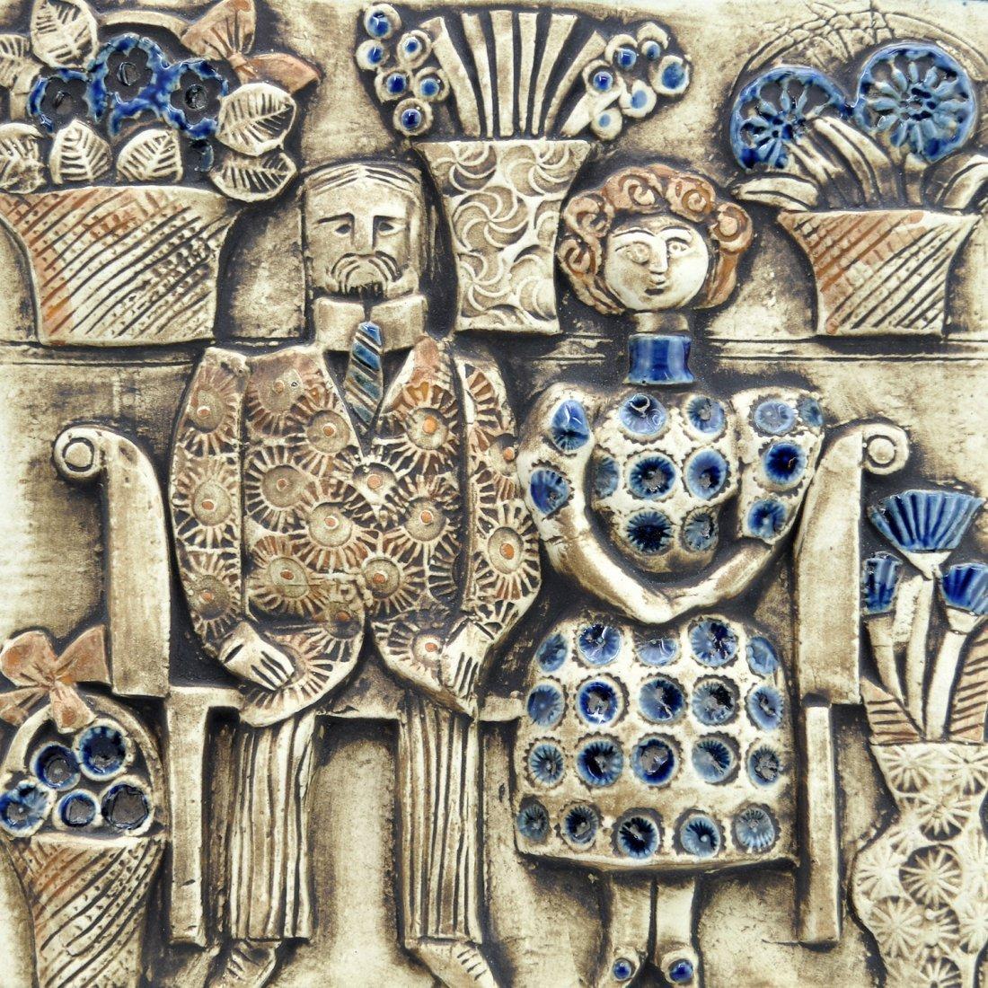 """11: VÄGGRELIEF, """"Jubileum"""", LISA LARSON (1931-), Gustav"""
