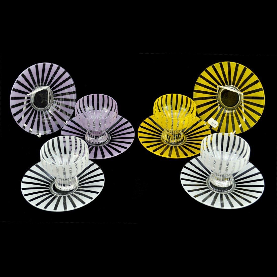 "6: PARTI GLASSERVISDELAR, 10 st, 1950-tal, ""Strikt"", BE"