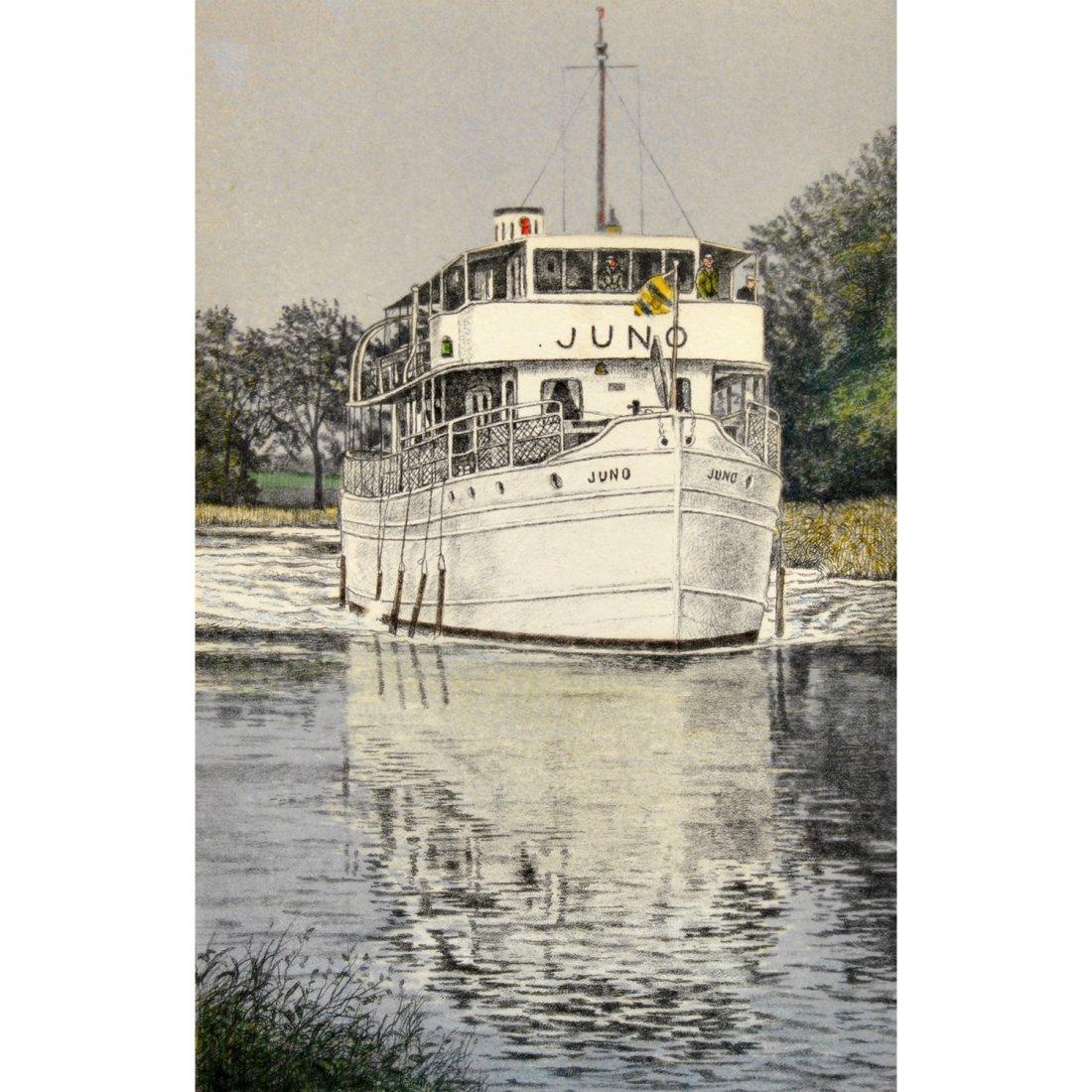 13: REINHOLD LJUNGGREN (1920-2006), färglitografi