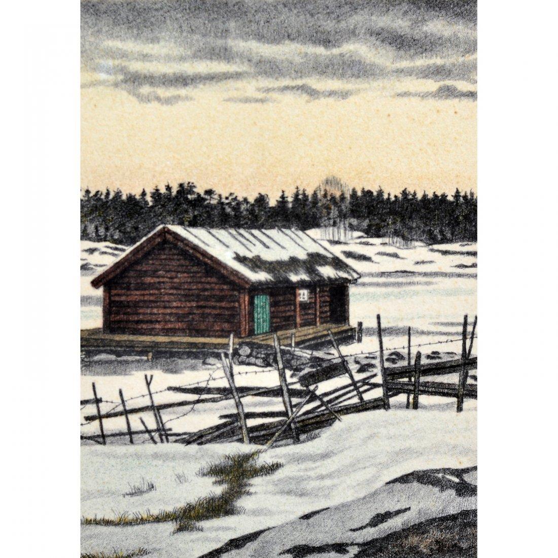 14: REINHOLD LJUNGGREN (1920-2006), färglitografi