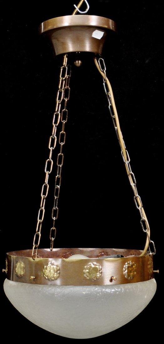 20: TAKLAMPA, metall/glas