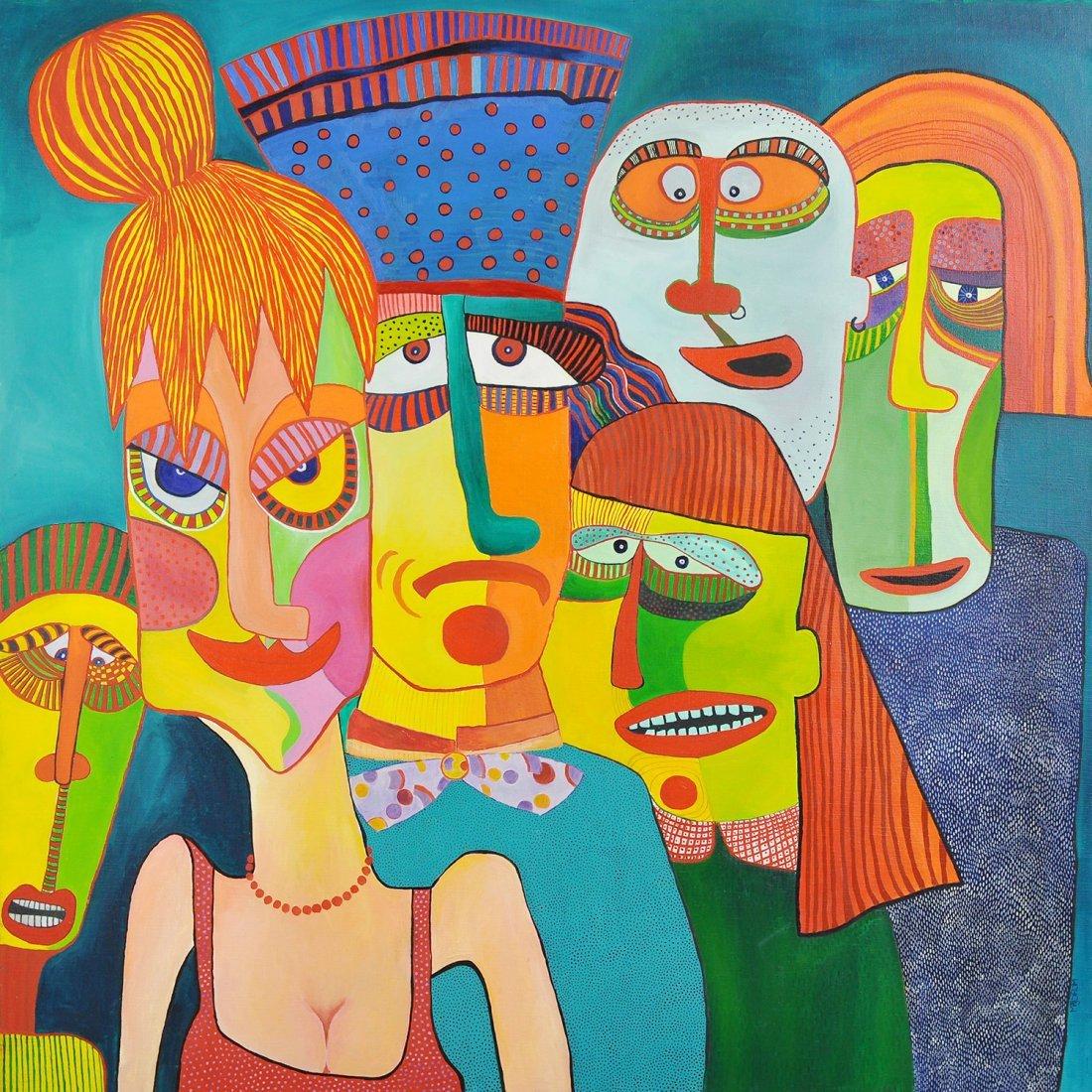 5: MAJ STRÖM (1953-), olja på duk