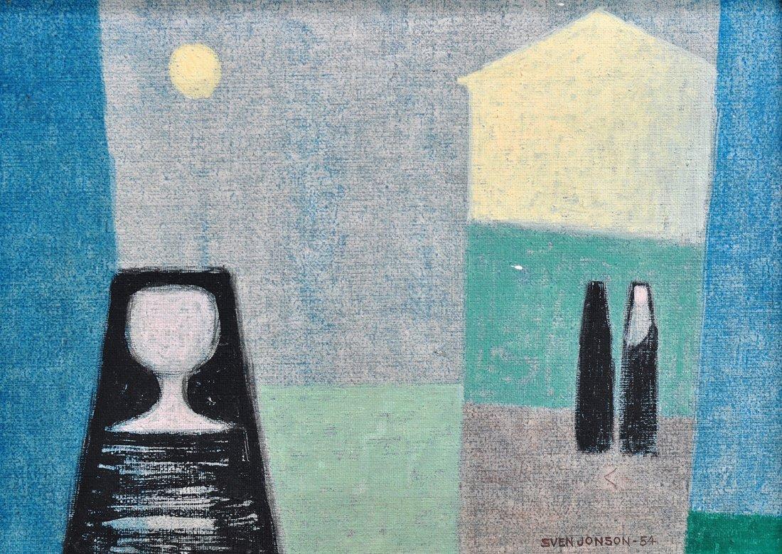 16: SVEN JONSON (1902-1981), kaseintempera på duk