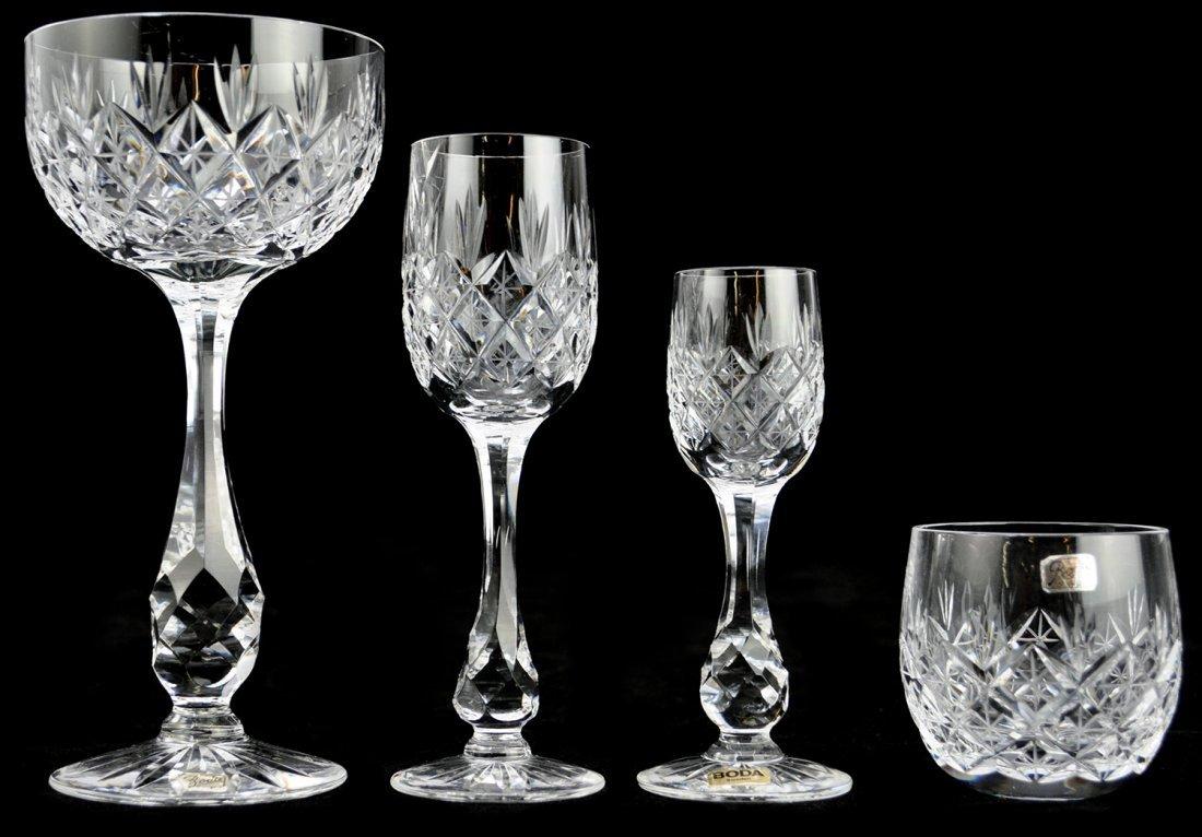 """24: GLASSERVISDELAR, 28 st, 1960-tal, """"Pompadour"""", FRIT"""