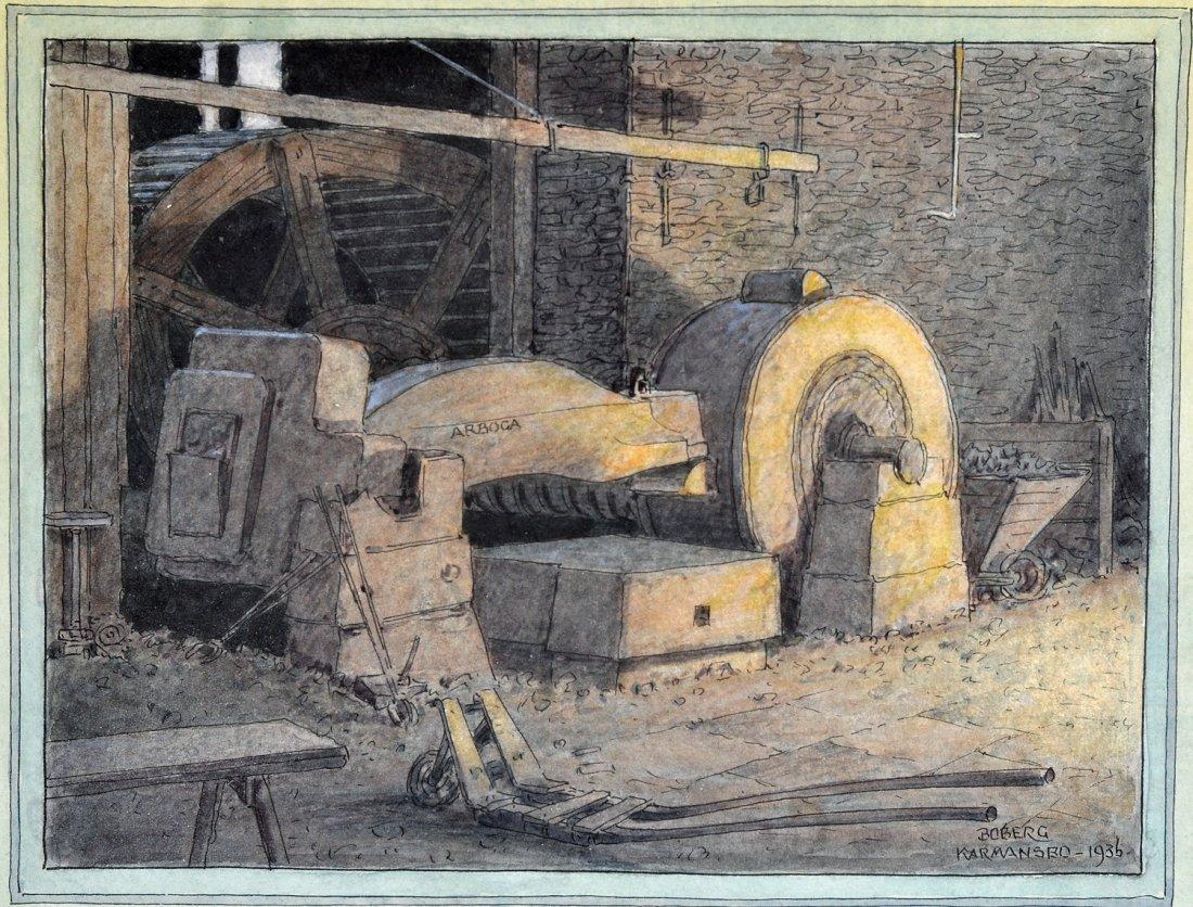 16: FERDINAND BOBERG (1860-1946), akvarell
