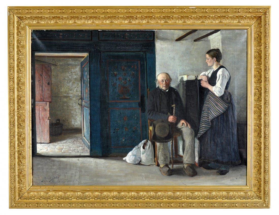 18: JAKOB KULLE (1838-1898), olja på duk