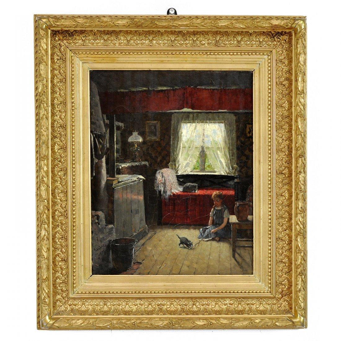 22: AXEL GILLIS HAFSTRÖM (1841-1909), olja på duk