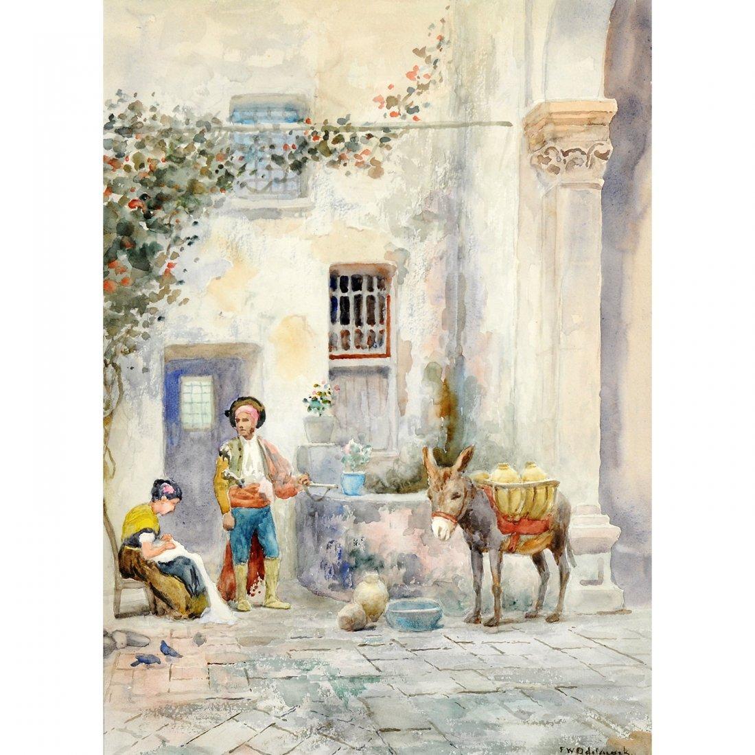 24: FRANS WILHELM ODELMARK (1849-1937), akvarell