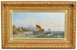 90: WILLIAM HARRY WILLIAMSON (1820-1883), olja på duk