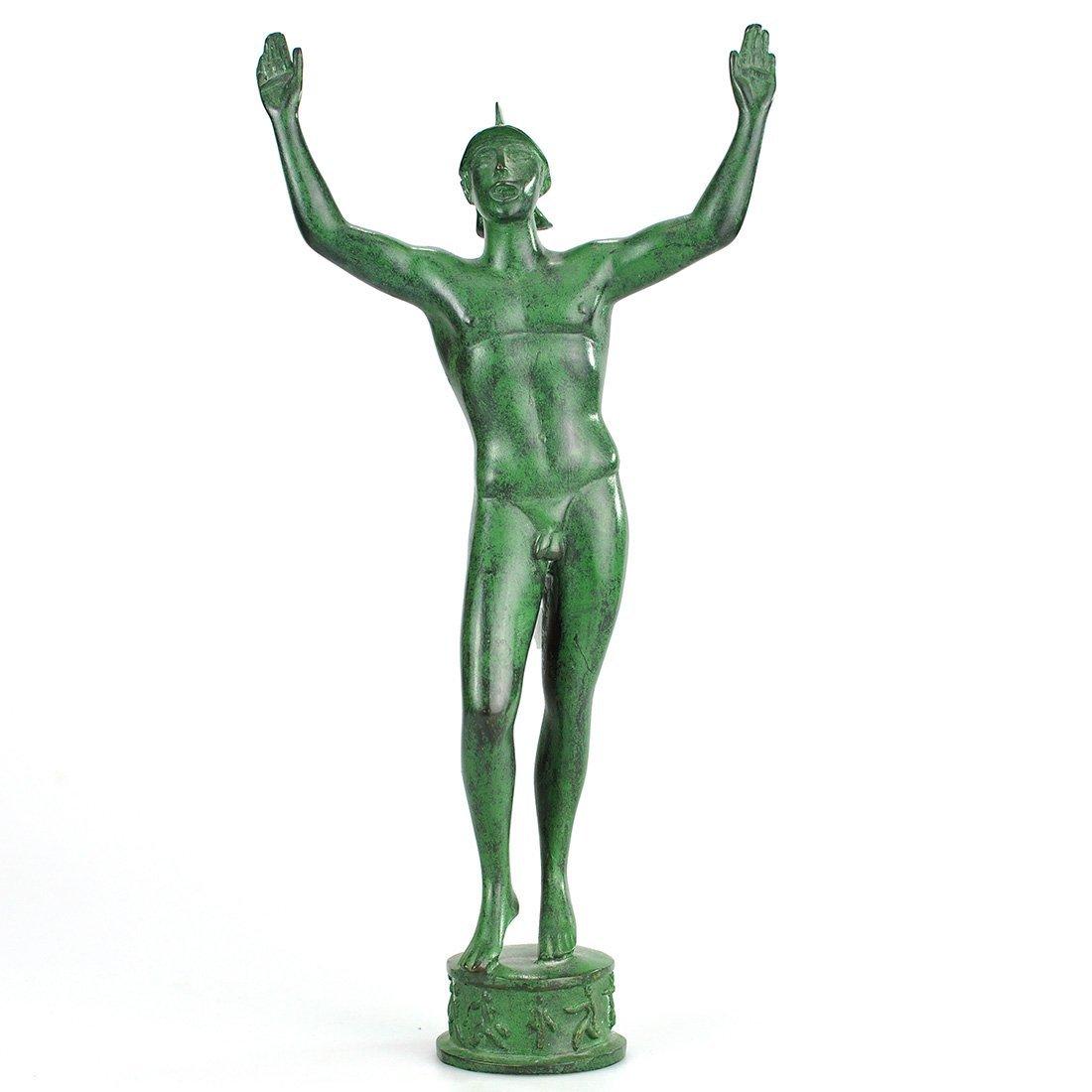 "2: SKULPTUR, brons, ""Solfångaren"", efter CARL MILLES"