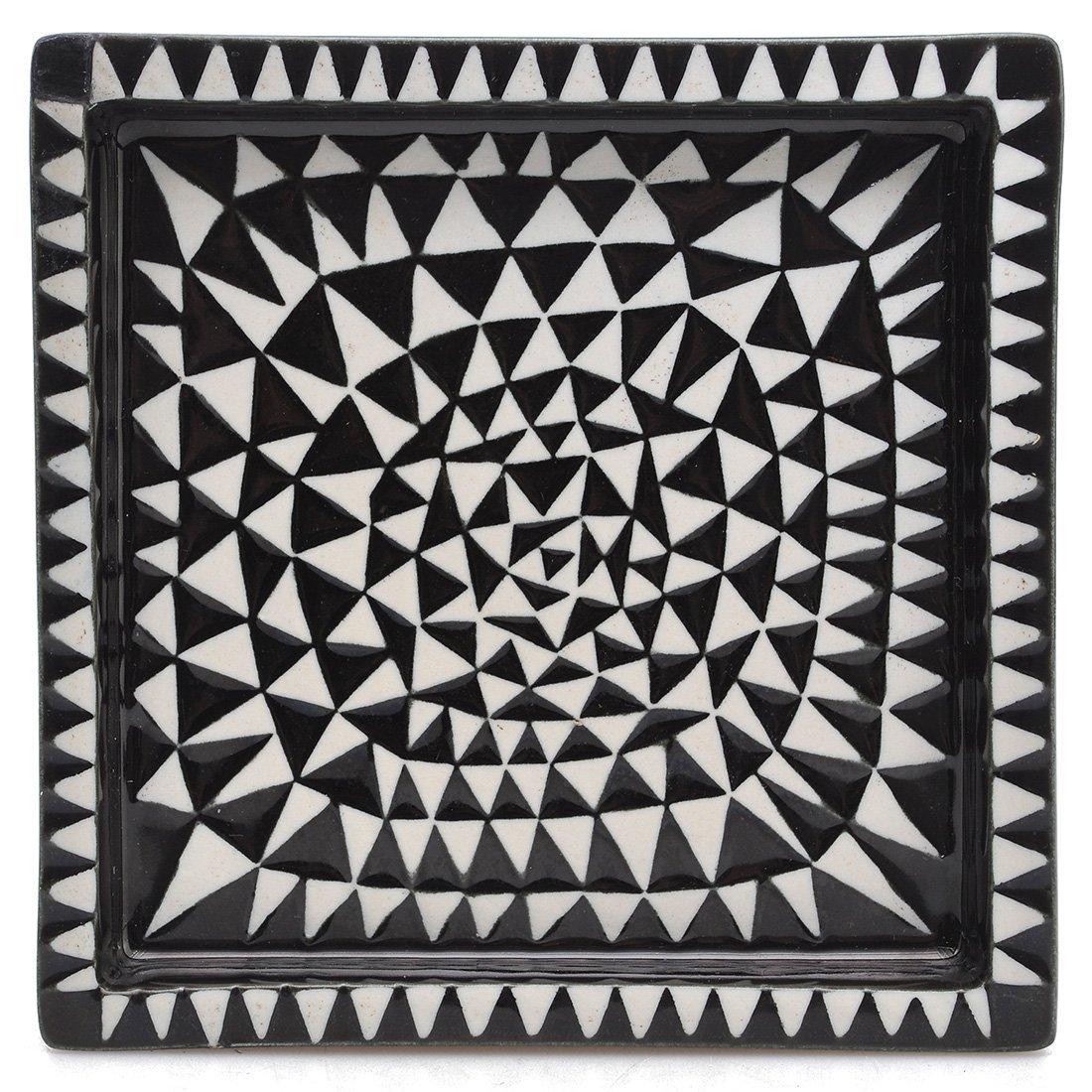 "10: ASKFAT, keramik, ""Domino"", STIG LINDBERG (1916-1982"