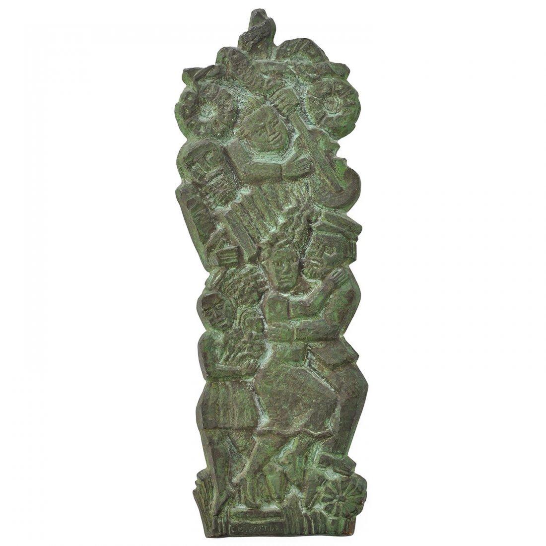 15: VÄGGRELIEF, brons, BENGT LISSEGÅRDH