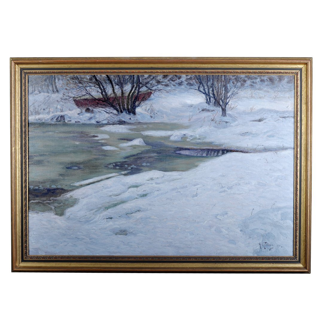 16: ANTON GENBERG (1862-1939), olja på duk