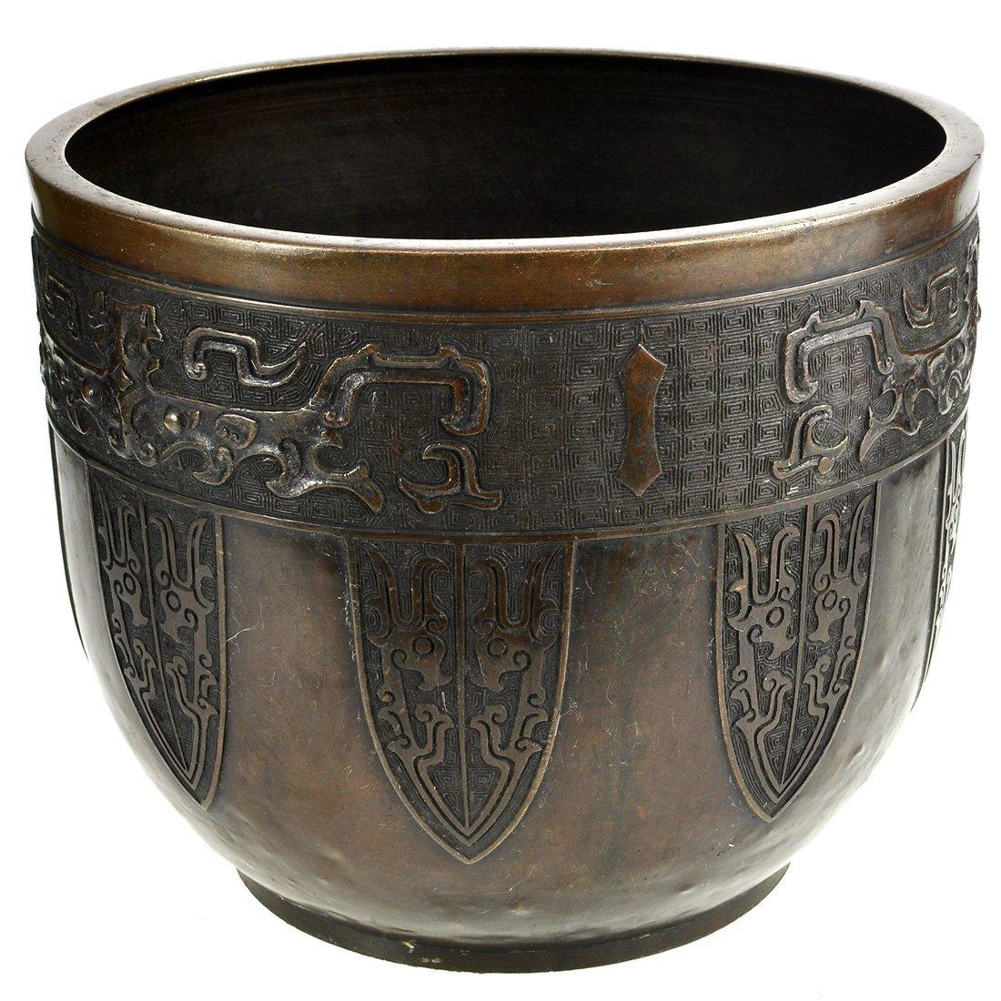 4: YTTERFODER, brons, 17/1800-tal, Asien