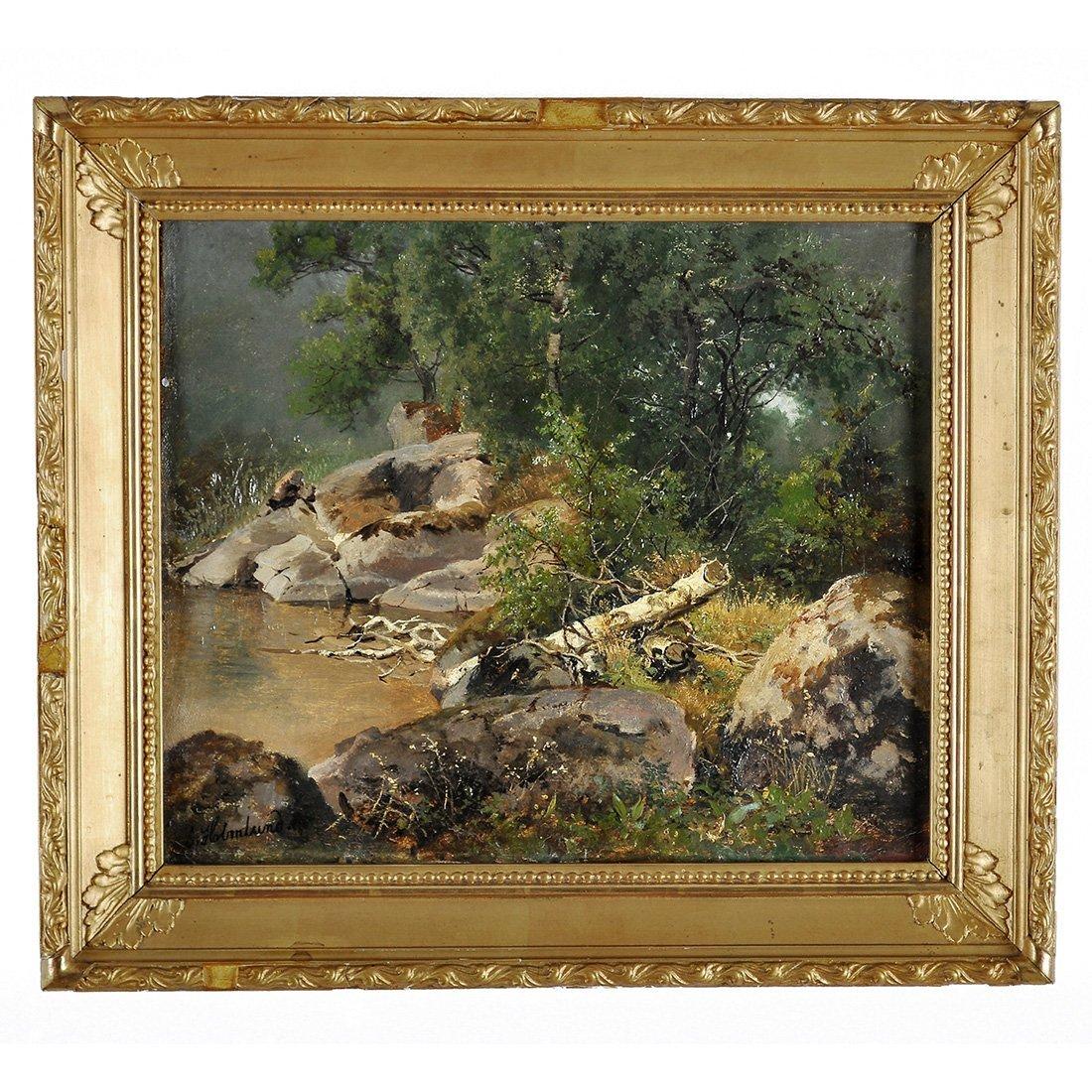 7: JOSEFINA HOLMLUND (1827-1905), olja på duk