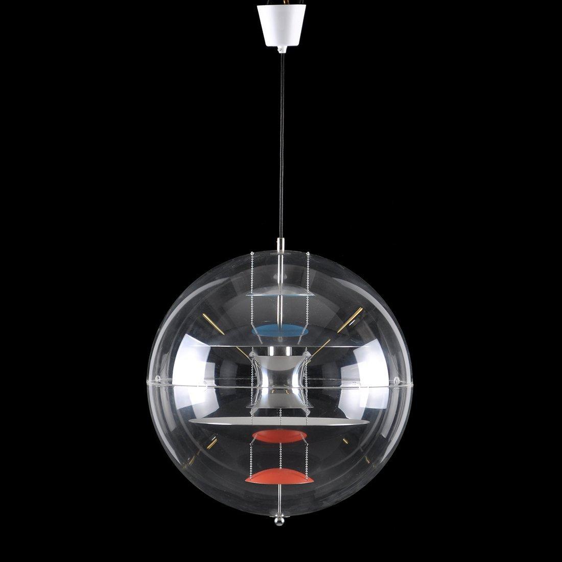 "18: TAKLAMPA, plexiglas/aluminium, ""VP-Globe"", VERNER P"