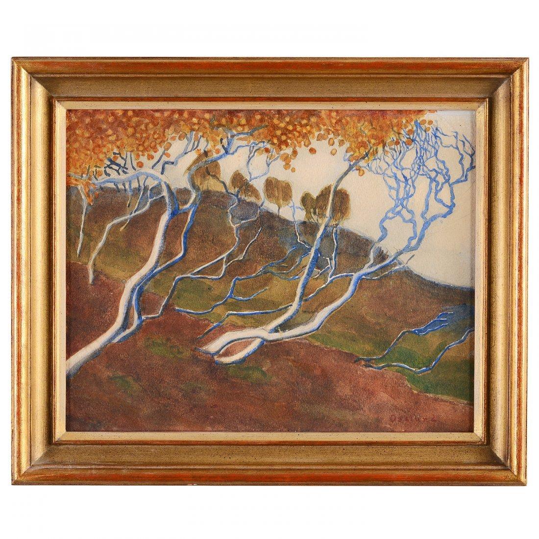 HELMER OSSLUND (1866-1938), akvarell