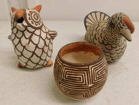 3 Pueblo Pottery Items