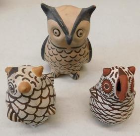 3 Pueblo Owls