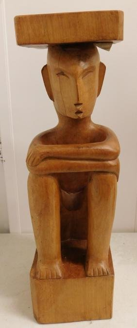 Philippines Carving of Man