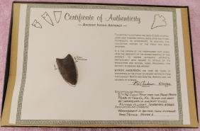 Fluted Point w/COA